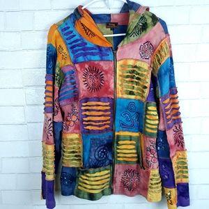 Rising International Tie Dye Patchwork Jacket